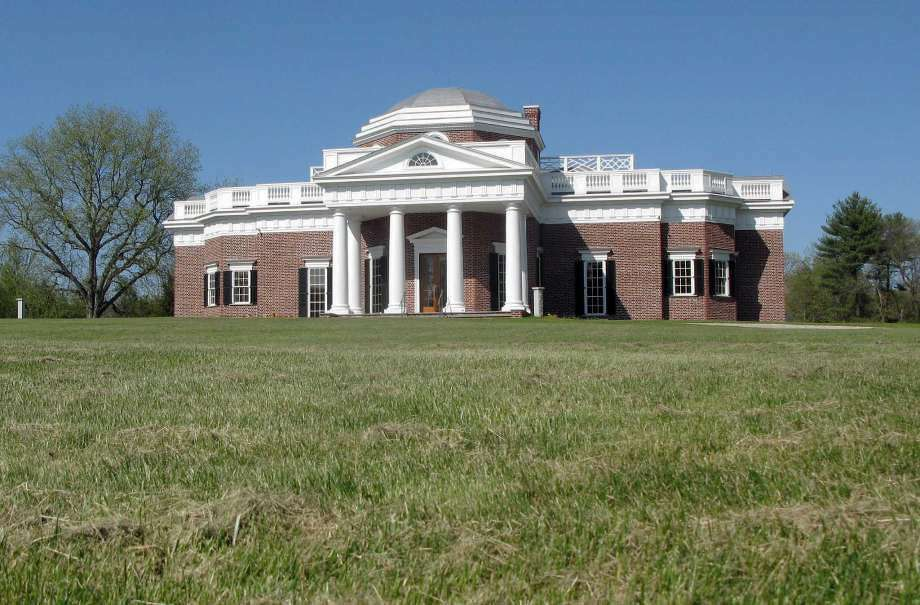 In this May 11, 2016 photo, a replica of Thomas Jefferson's Monticello stands in Somers, Conn. Friendly's ice cream co-founder S. Prestley Blake is auctioning off the home he had built in 2014 for $7.7 million. (Photo:Pat Eaton-Robb, AP)