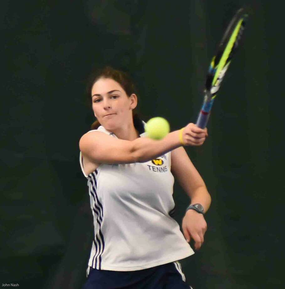 Action from Friday's Weston vs. Northwest Catholic state Class S girls tennis championship matches.