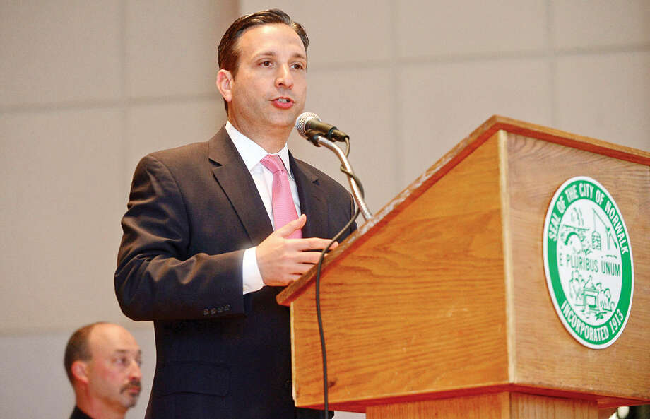 "State Senate Majority Leader Bob Duff welcomes over 800 students from 12 elementary schools as they attend The Norwalk Department of Police Services' 2016 Drug Abuse Resistance Education (""D.A.R.E."") graduation Wednesday, June 1, 2016, at Norwalk City Hall in Norwalk, Conn. where students were treated to a ""Mr. Abracadabra Magic Show"" performed by Nick Moriello. Over the course of the past school year, the Norwalk Police D.A.R.E. program taught students good decision-making skills enabling them to lead safe and healthy lives and encouraged a positive relationship between students and law enforcement, teachers, parents, and other community leaders. Photo: Erik Trautmann"