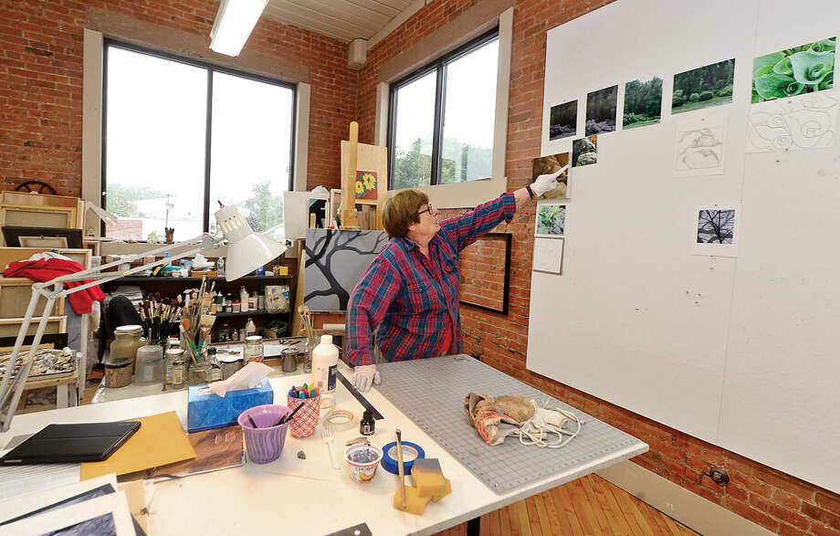 Artist Ruth Ipe in her studio at Wilson Avenue Loft Artists (WALA), which provides space to 14 area artists in an former industrial building Wednesday, June 8, 2016, in South Norwalk, Conn. Photo: Erik Trautmann