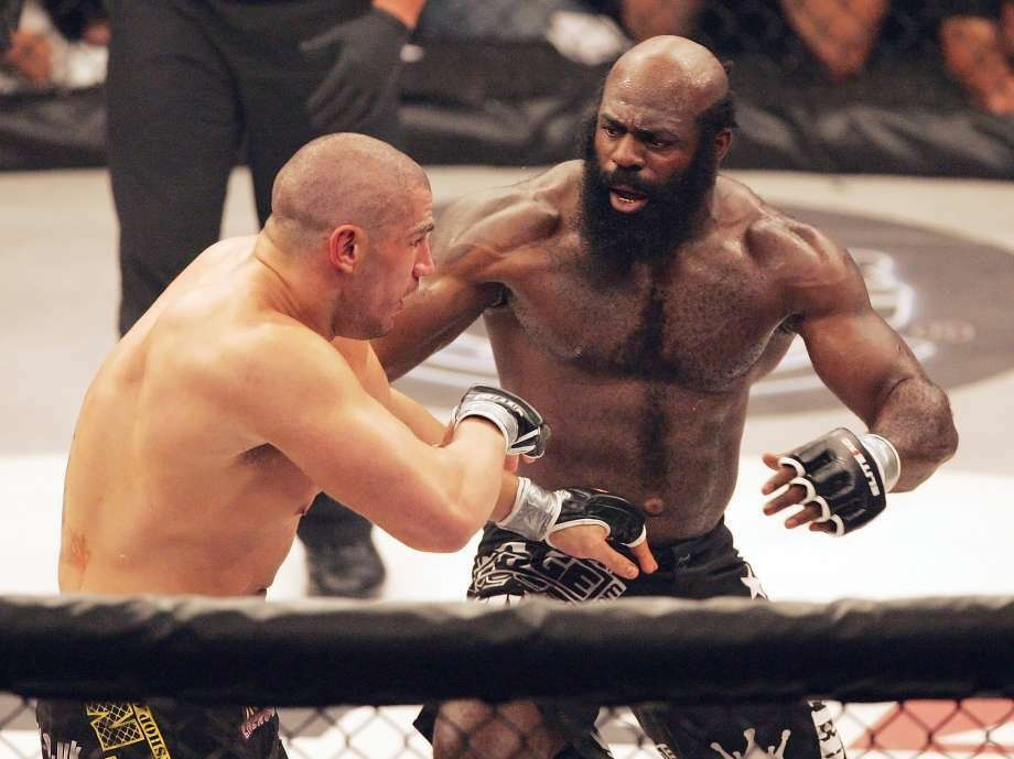 File-This May 31, 2008, file photo shows Kimbo Slice, right, battling James Thompson of Manchester, England during their EliteXC heavyweight bout at the Prudential Center in Newark, N.J. Police in Florida say Slice has been taken to a hospital, though reason why wasn't immediately clear. Coral Springs Police Sgt. Carla Kmiotek said Monday, June 6, 2016, that a local hospital told the department the fighter, whose real name is Kevin Ferguson, was a patient. (Photo: Rich Schultz, AP)