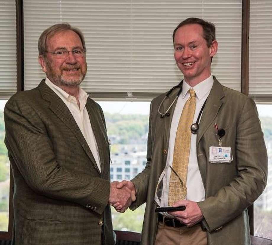 David Tait (left) nominatedDr. Seth Sullivan for the Vasculitis Foundation RED (Recognizing Excellence in Diagnostics) Award. Photo: Contributed Photo