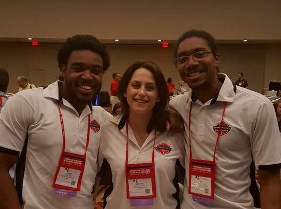 From left to right: Andre Aiken, Melissa D'Agostino and Antoine Steward. Photo: Contributed Photo