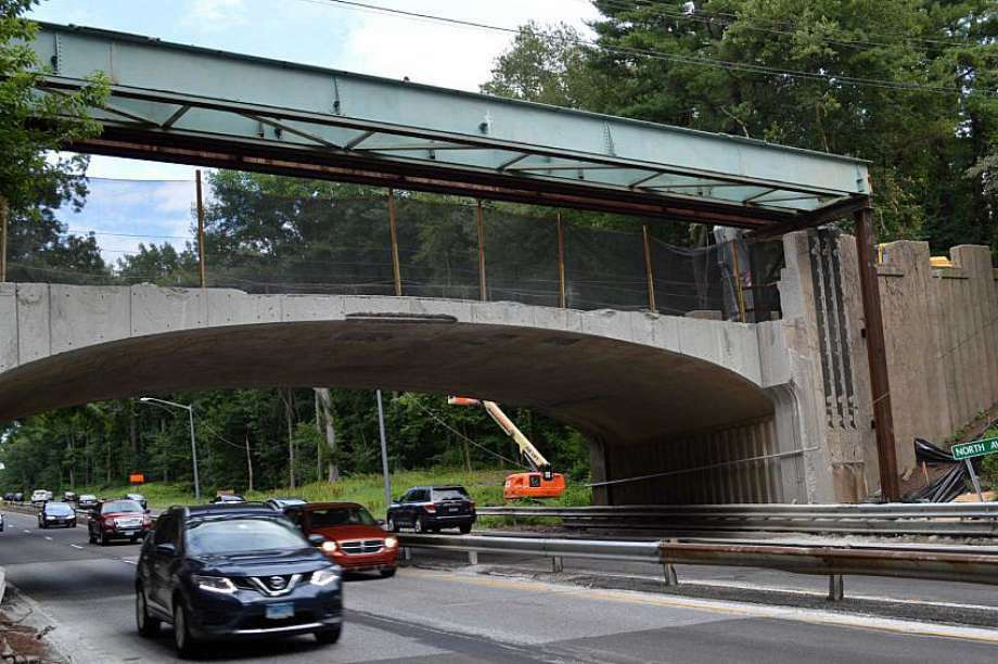 The state Department of Transportation has announced that the North Avenue Bridge over the Merritt Parkway in Westport will be closed to all traffic starting on June 20, 2016. The revised target date for completing this problem-plagued project is now Sept. 15, 2016. (Photo: File photo)