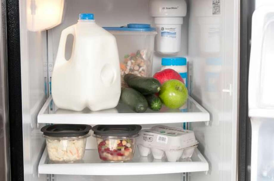 Stocking up on food one week at a time can prevent food waste.