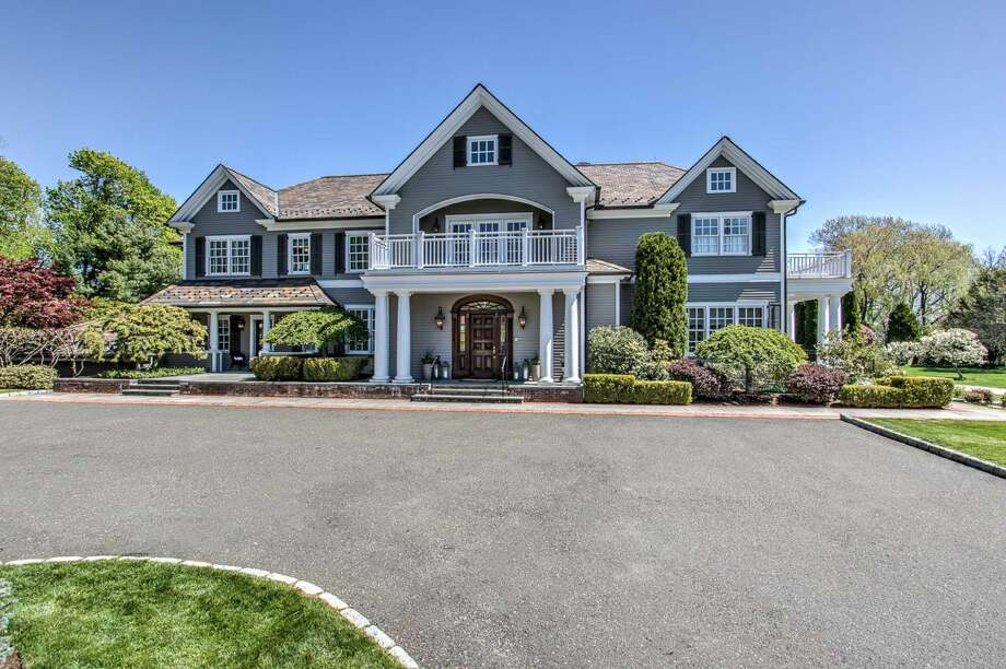 The exterior of former NFL All-Pro Matt Birk's home in Greenwich. Photo: Wayne Beach