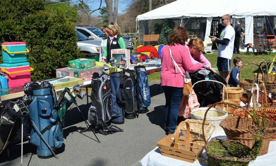 An array of goods was on offer at the Dogwood Festival's tag sale. (Photo: Jarret Liotta)