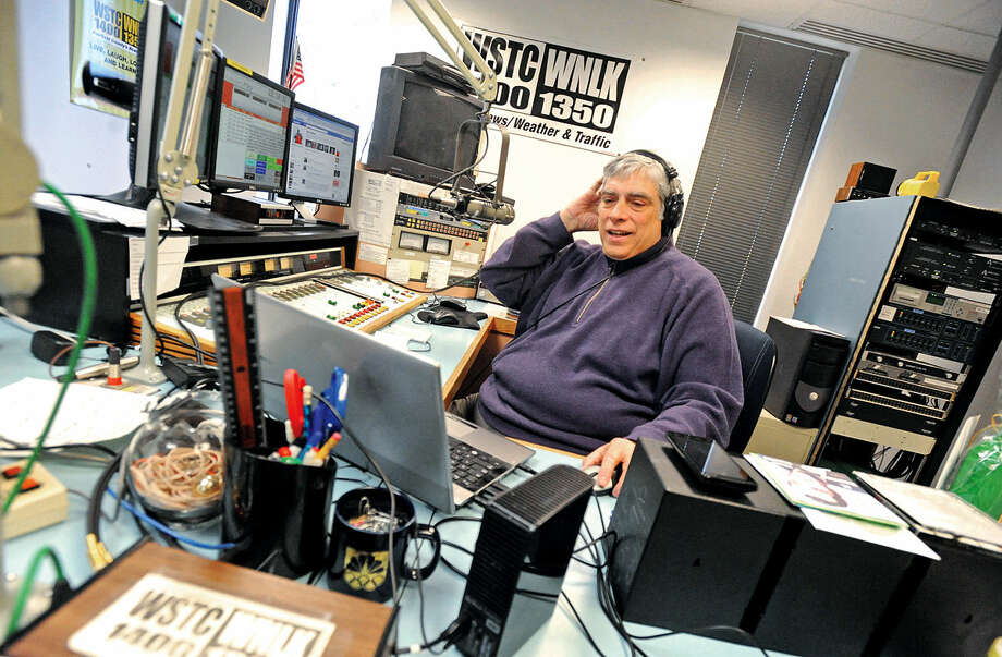 This file photo shows DJ John Labarca as he hosted his final radio broadcast of The Italian House Party from the Cox Media group on WNLK/WSTC in Norwalk. Photo: Erik Trautmann
