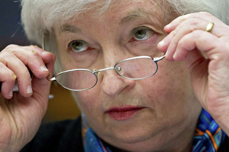 Janet Yellen, chair of the U.S. Federal Reserve, removes her glasses during a House Financial Services Committee hearing in Washington, D.C., U.S., on Wednesday, June 22, 2016. By offering a subtle change to her outlook from less than a week ago, Yellen on Tuesday before the Senate Banking Committee pushed the prospect of additional interest rate increases further into the future. Photographer: Andrew Harrer/Bloomberg Photo: Andrew Harrer, Bloomberg / © 2016 Bloomberg Finance LP