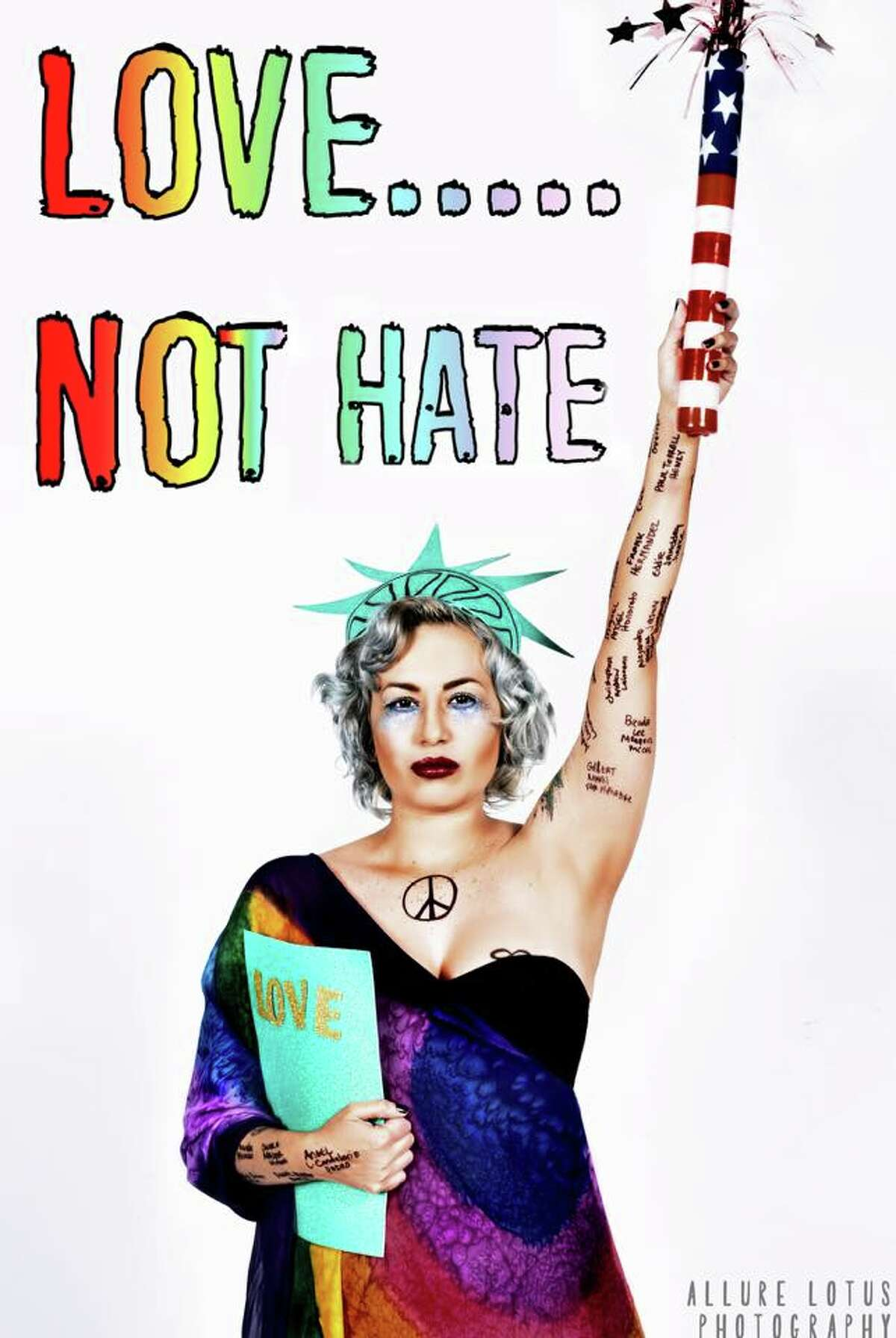 """Through her """"Love Not Hate Campaign,"""" Luna Evans, 23, is hoping to promote acceptance throughout the San Antonio and beyond."""