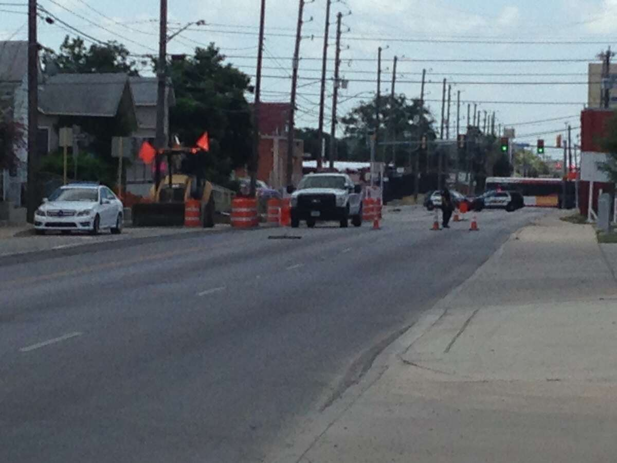 San Antonio emergency crews evacuated at least a dozen homes after construction crews ruptured a natural gas line.