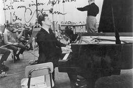 Eugen Ormandy and Van Cliburn in 1968.