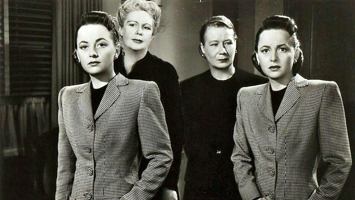 Olivia de Havilland plays two roles in the film noir �The Dark Mirror� (1946).