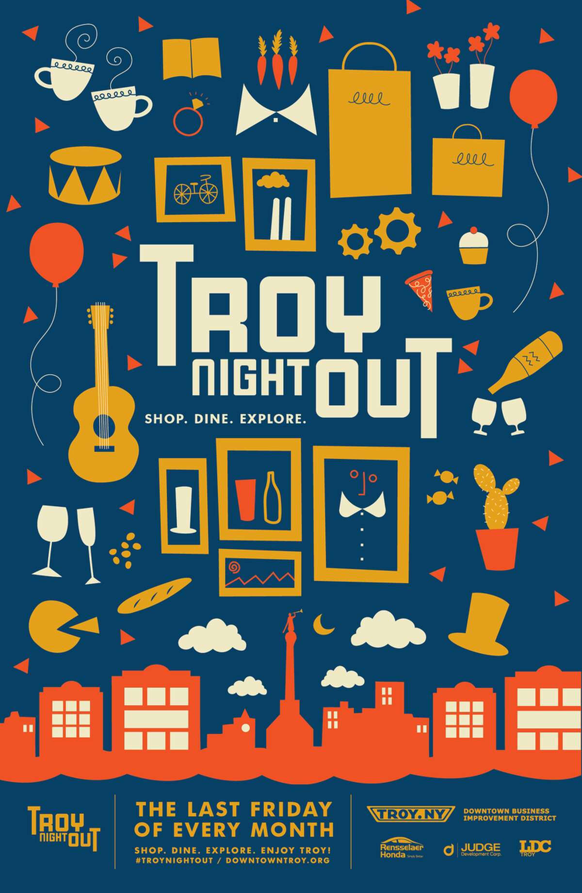Troy Night Out is a monthly arts and cultural event. Attendees are able to enjoy art events, music venues, fine restaurants and unique boutiques of all varieties. This month's theme is Christmas in July. Click here to check out the special menus and discounts atparticipating businesses.When: Friday, July 29, 5 - 9 PM. Where: Downtown Troy.