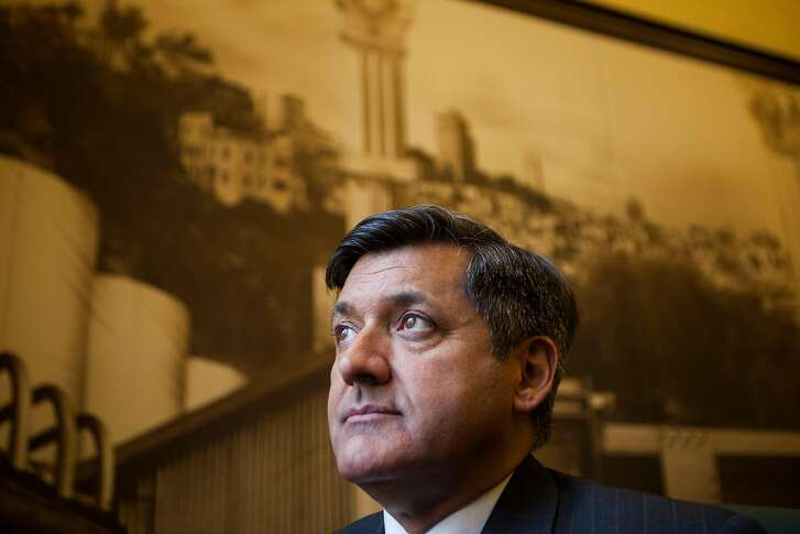 San Francisco Treasurer Jose Cisneros on Wednesday, June 22, 2016 at City Hall in San Francisco, California. The two want HomeAway to give the city info on its short-term rental hosts so it can make sure that they are remitting the city's 14% hotel tax.