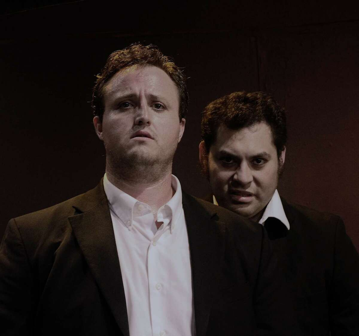 """Timothy McCain (from left) and Robert Jerdee star in the latest installment of """"The Secret Adventures of Sherlock Holmes"""" at the Overtime Theater."""