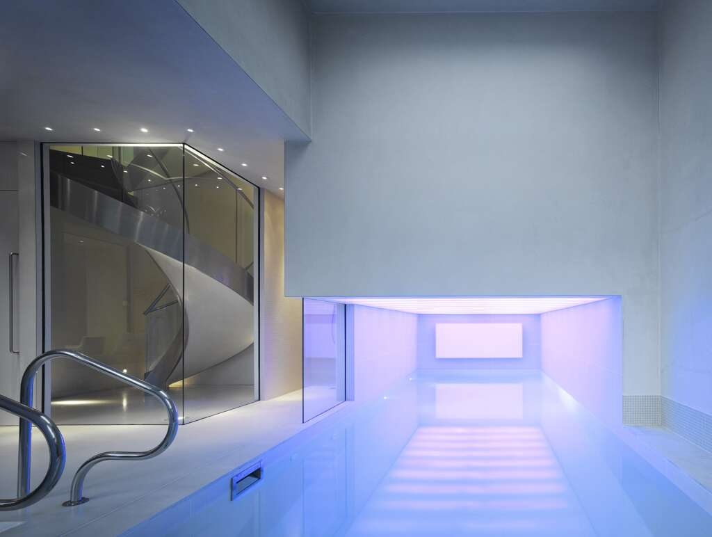 A 2010 photograph of an indoor swimming pool inside a home in Holland Park, London. Photo: View Pictures, UIG, Getty Images