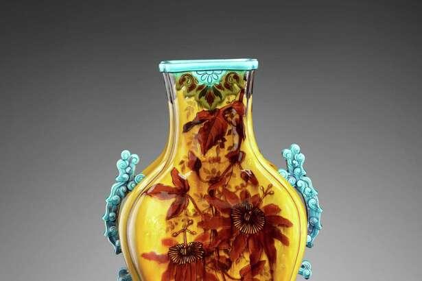 Joseph-Théodore Deck, Vase, c. 1880, earthenware