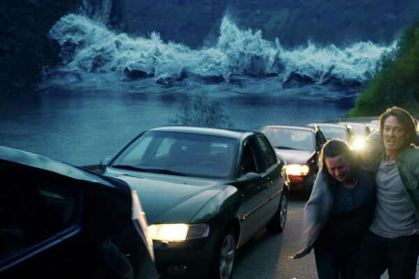 Silje Breivik and Kristoffer Joner in THE WAVE, a Magnolia Pictures release. Photo courtesy of Magnolia Pictures.