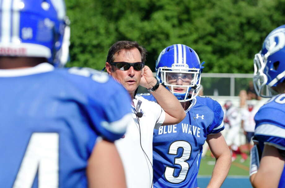 Darien High School football coach Rob Trifone is shown in this file photo. Photo: File Photo / Connecticut Post Freelance