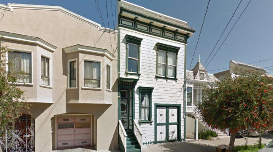 Michelle Malliett's two-bedroom in-law unit is on the lower level of the main house (right), with its own entrance in the rear. Since 2007, she has paid $1,700 a month to live there with her daughter. Photo: Google Street View, San Francisco Magazine