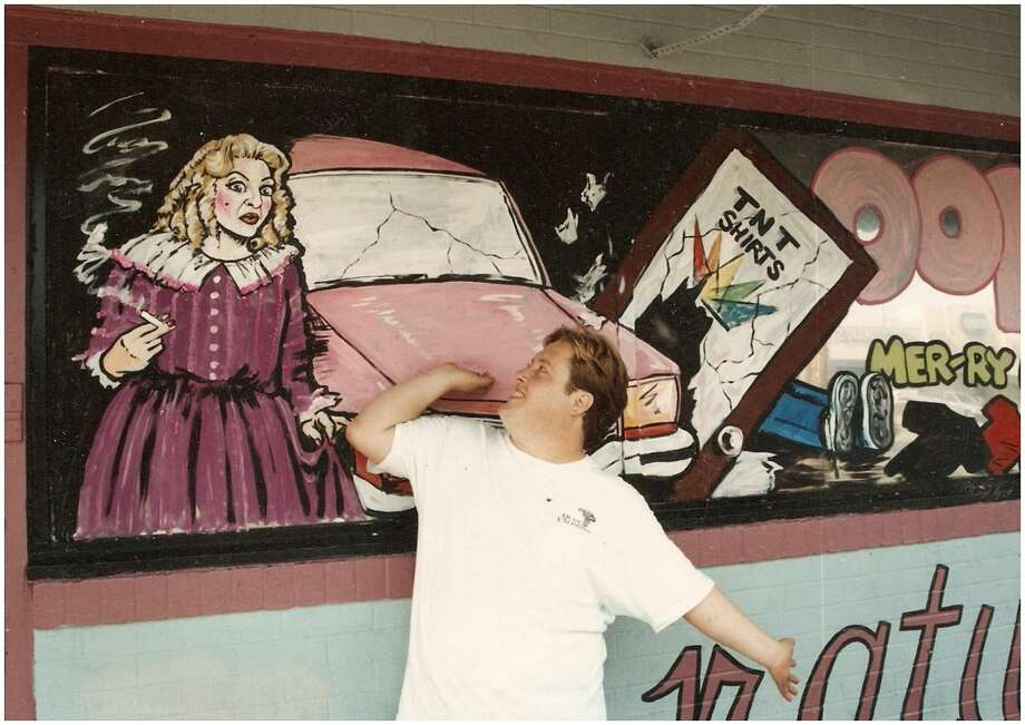 PHOTOS: Mary's murals in all their glory From 1990 until 1999 artist Scott Swoveland's colorful murals outside Montrose gay bar Mary's showed off the neighborhood's vibrant reputation as an LGBT redoubt.   Click through to see what the mural looked like through the years...  Photo: Scott Swoveland / Www.houstonLGBThistory.org
