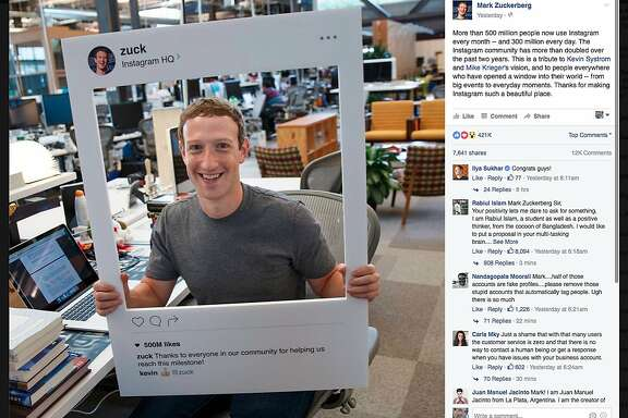 Facebook CEO Mark Zuckerberg posts a photo on Tuesday, June 21 celebrating Instagram's milestone of reaching 500 million users. The computer pictured in the photo drew widespread online interest because of some unusual details.