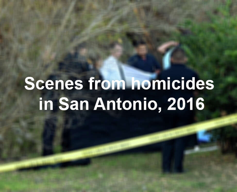 San Antonio is facing an astounding spike in homicides. Scroll through the slideshow to see scenes from cases the San Antonio Police Department has worked in 2016. Photo: Billy Calzada/San Antonio Express-News