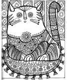 """A page from """"The Fat Cat Coloring and Limerick Book"""" published by Troubadour Press in 1967"""