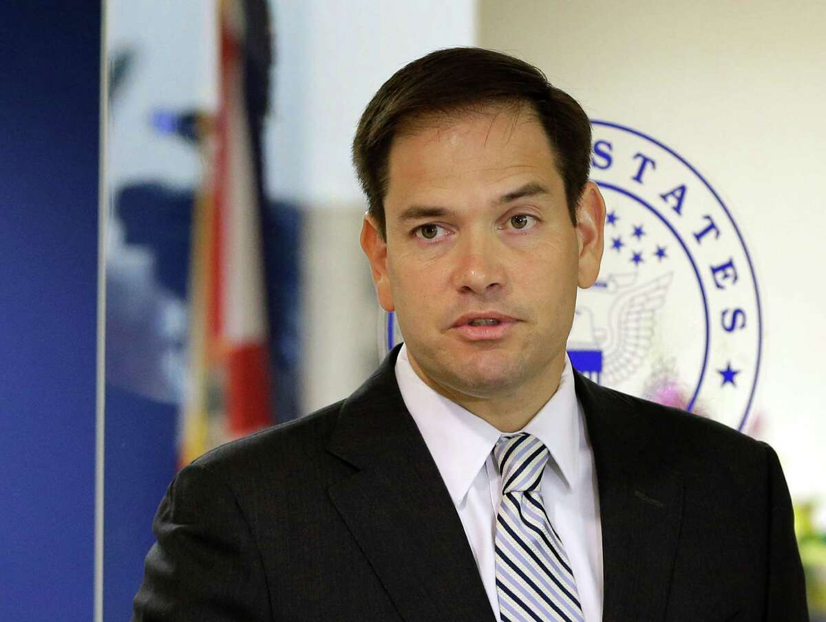 FILE - In this June 3, 2016 file photo, Sen. Marco Rubio, R-Fla. speaks during news conference in Doral, Fla. Leading Republicans expect Rubio to announce he is running for re-election to his Florida Senate seat. (AP Photo/Alan Diaz, File)