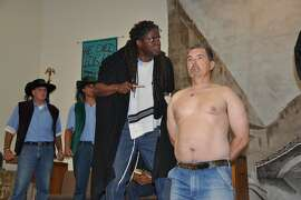 """The Marin Shakespeare Company is expanding its programs in California prisons, among them San Quentin, where these men peformed """"The Merchant of Venice"""" in 2013."""