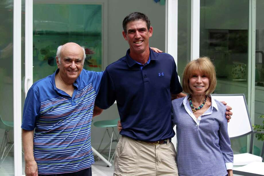 ELBAR Pool Houses founders Elliott Kanbar, Matt Menozzi and Barbara Rose. Photo: Chris Marquette / Hearst Connecticut Media / Westport News