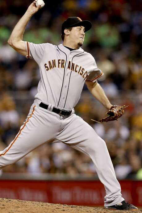 San Francisco Giants relief pitcher Derek Law throws against the Pittsburgh Pirates during the fifth inning of a baseball game Wednesday, June 22, 2016, in Pittsburgh. The Giants won 7-6. (AP Photo/Keith Srakocic) Photo: Keith Srakocic, Associated Press