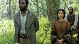 """The movie """"Free State of Jones, starring Mahershala Ali (left) and Gugu Mbatha-Raw, was full of potential; instead, many elements strike a sour chord."""