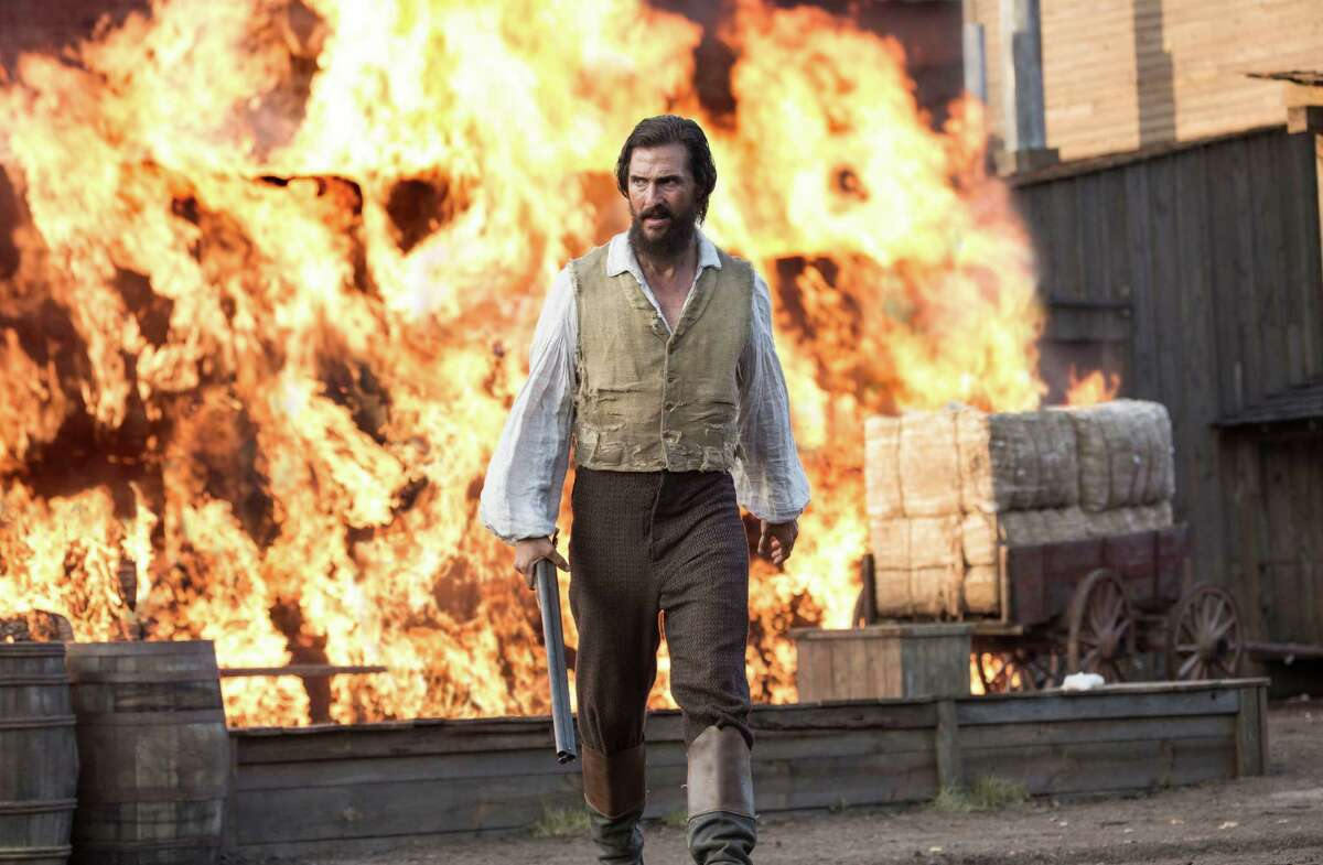 This image released by STX Productions shows Matthew McConaughey in a scene from