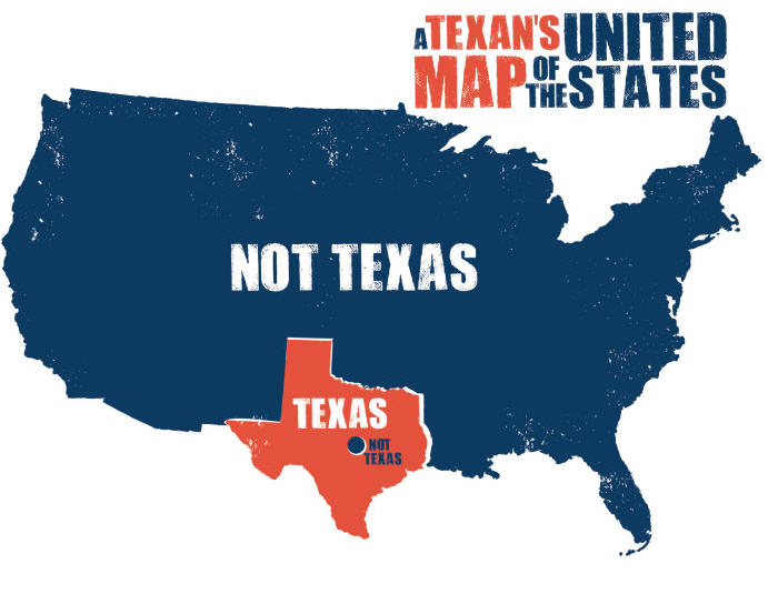 Texas Stereotypes Houston Chronicle - Texas us map