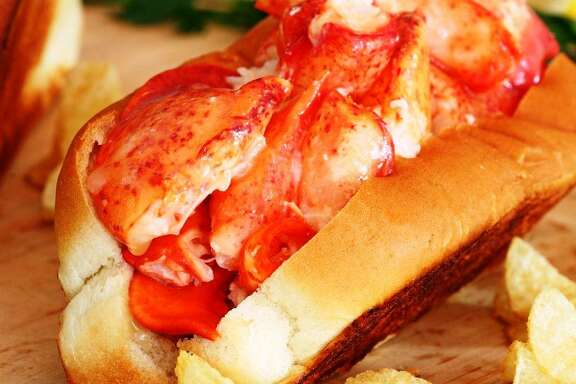 A Connecticut-style lobster roll from Cousins Maine Lobster food truck.