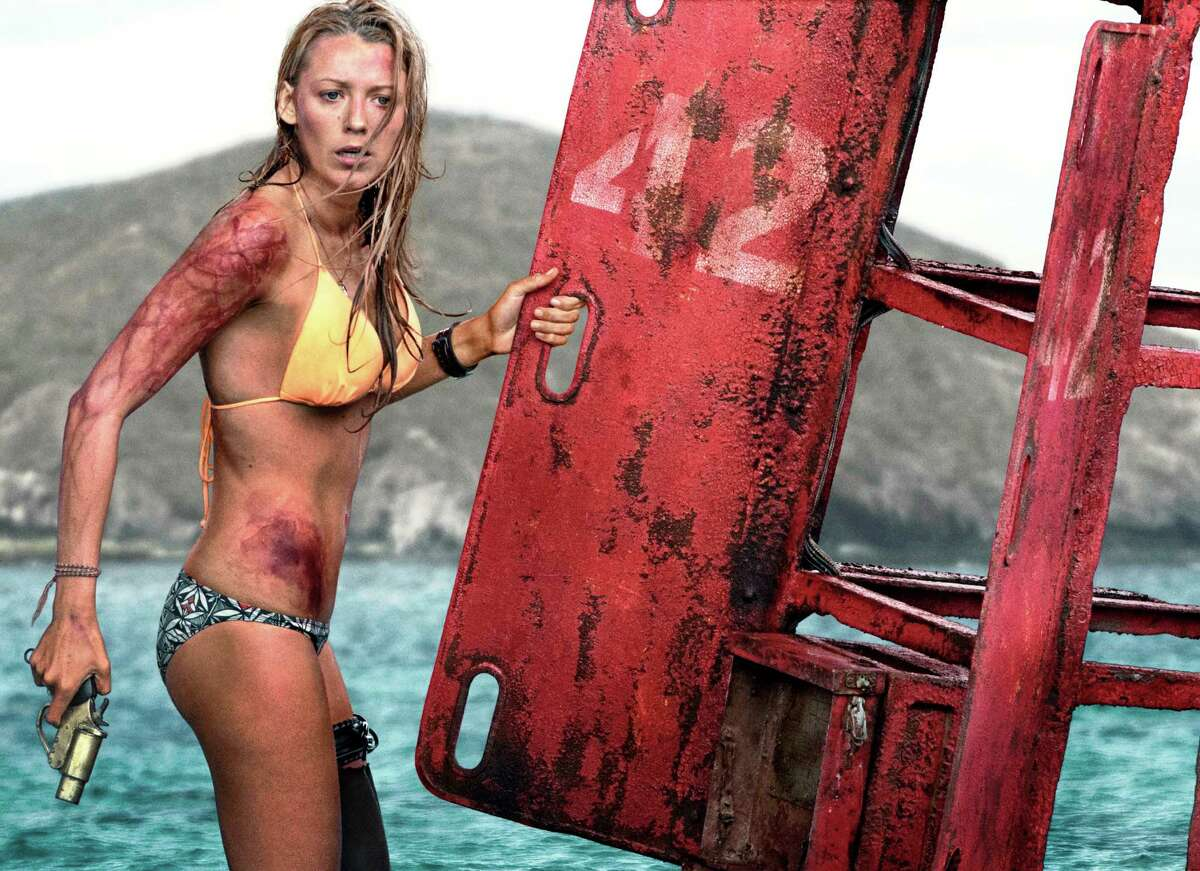 """Nancy (Blake Lively) must outwit a predatory shark in """"The Shallows."""""""