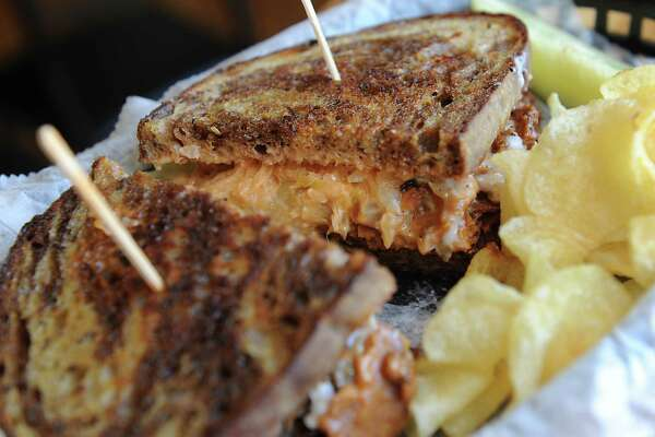 The Reuben at Berben & Wolff's Vegan Delicatessen on Lark Street in Albany includes house-made seitan pastrami with Russian, sauerkraut and swiss cheese on grilled Rock Hill Bakery marble rye. (Lori Van Buren / Times Union)