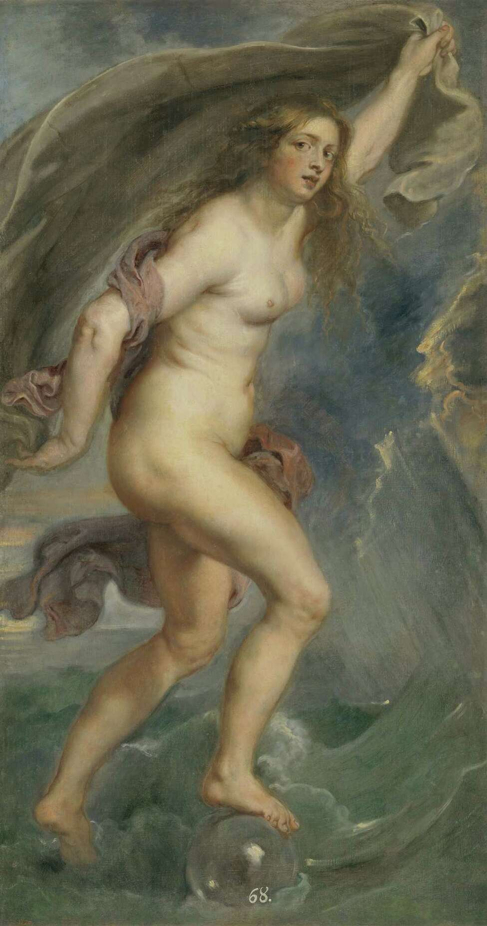 Peter Paul Rubens (Flemish, 1577?-1640), Fortuna, 1636?-38. Oil on canvas, 71 3/4 x 39 5/8 in.