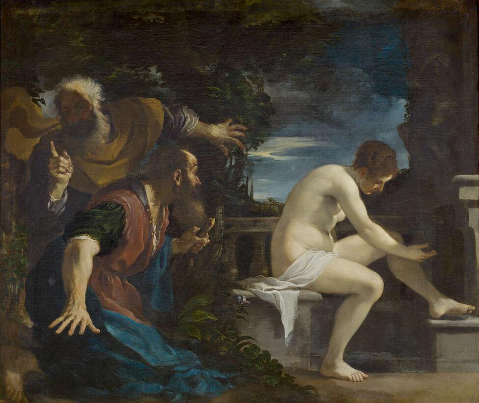 Guercino (Giovanni Francesco Barbieri) (Italian, 1591?-1666), Susannah and the Elders, c. 1617. Oil on canvas, 69 1/4 x 81 7/8 in.