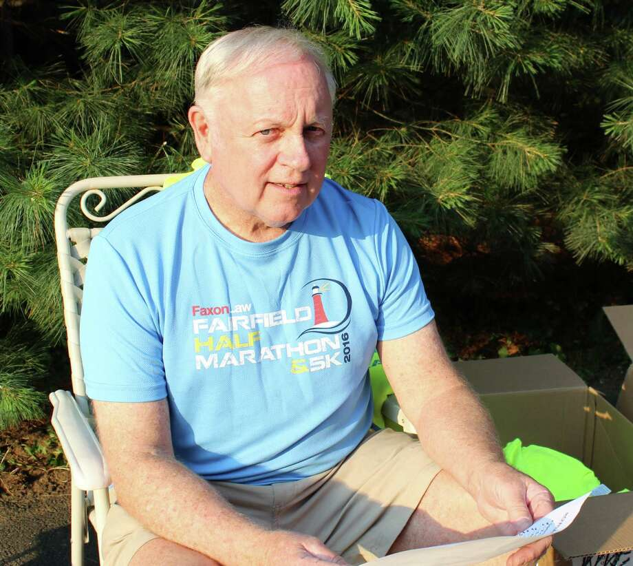 Retired Fairfield Fire Lt. Steve Lobdell has served as director of the Faxon Law Fairfield Half Marathon for almost 40 years. Fairfield, CT. June 24, 2016 Photo: Genevieve Reilly /Hearst Connecticut Media / Fairfield Citizen