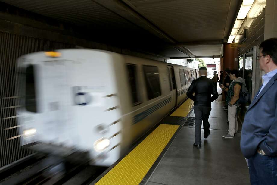 A BART train pulls into the Millbrae Station in June. The agency's hands are largely tied when it comes to young gate-crashers. Photo: Michael Macor, The Chronicle