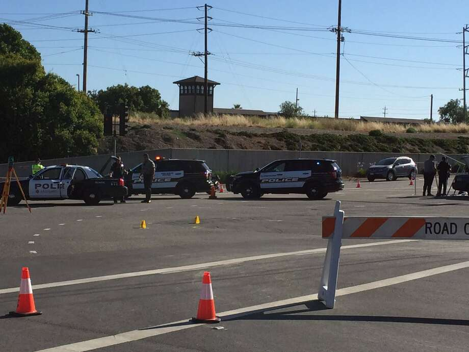 A female bicyclist was killed Thursday morning when she was hit by a vehicle at the intersection of Valley Avenue and Stanley Boulevard in Pleasanton. The cause of the crash remained under investigation. Photo: Pleasanton Police Department / /