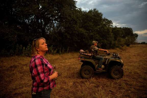 Shirley Lee and her husband Ron Lee go dove hunting on the family ranch in Bexar County, Texas on September 25, 2015.  The Lees bought 2.5 acres of the original 600 acre property, but help manage the rest of the land.  The ranch has become surrounded by residential neighborhoods in recent years.