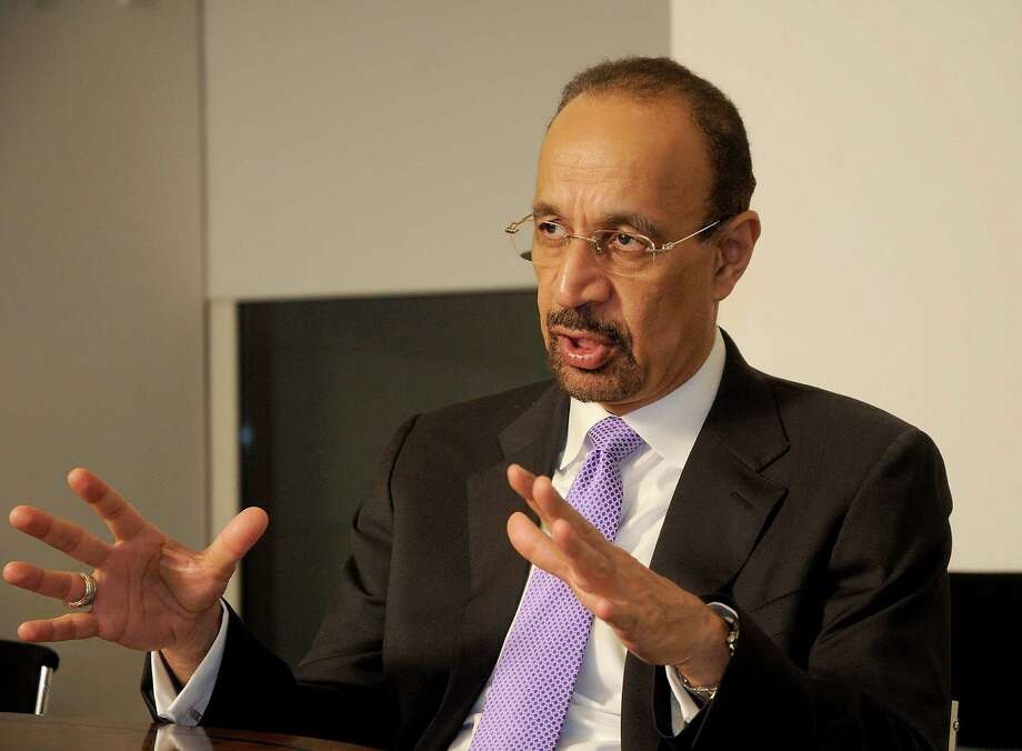 Khalid Al-Falih, Saudi Arabia's energy minister, called the end of the global oil surplus, two years and day after U.S. crude peaked at $107 a barrel. Photo: Dave Rossman /For The Houston Chronicle / Dave Rossman