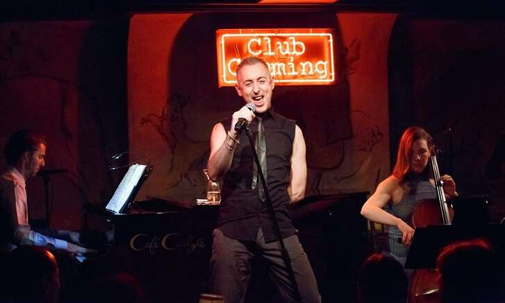 "Alan Cumming sings show tunes and pop hits in ""Alan Cumming Sings Sappy Songs."""