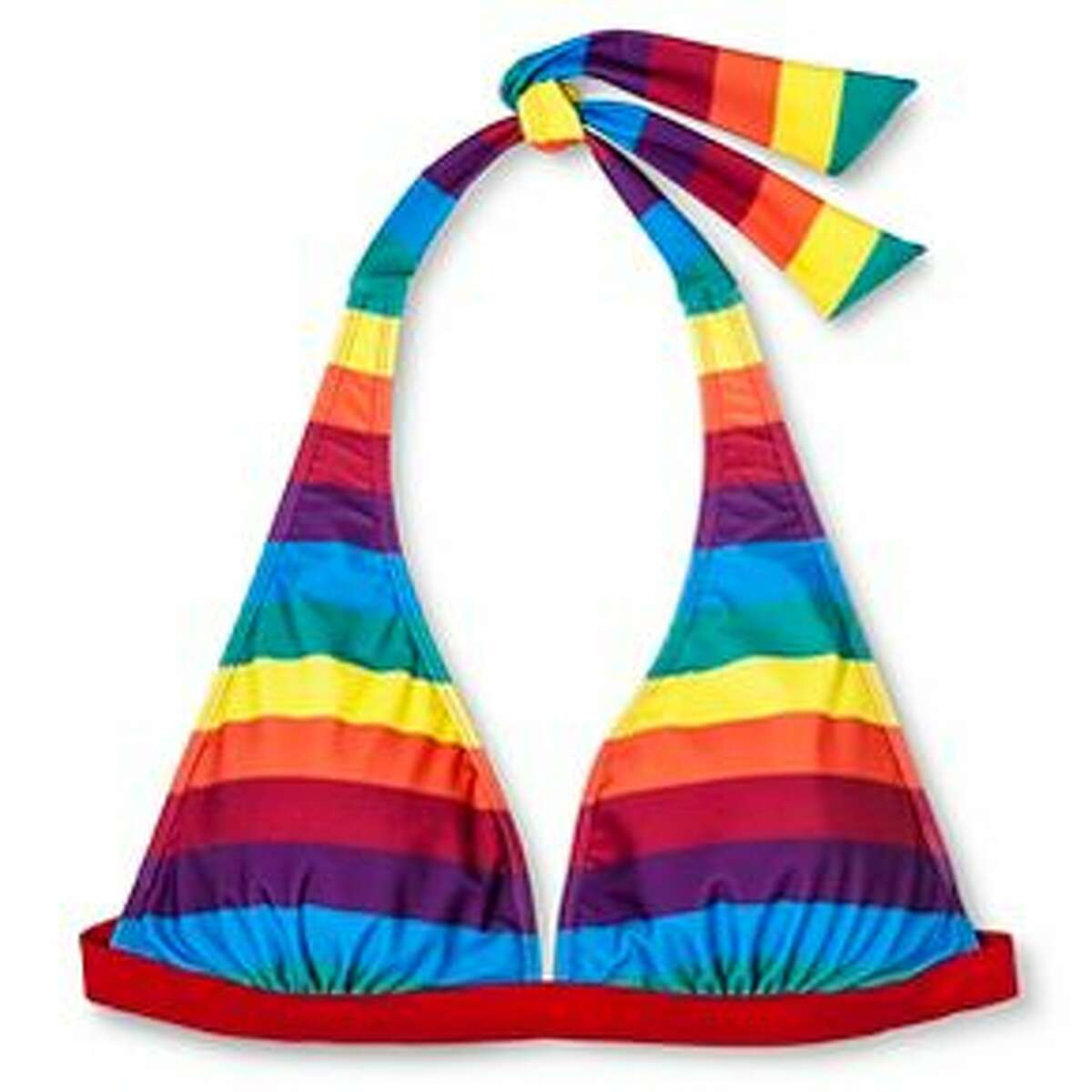 Rainbow bikini top, $12.99, Target