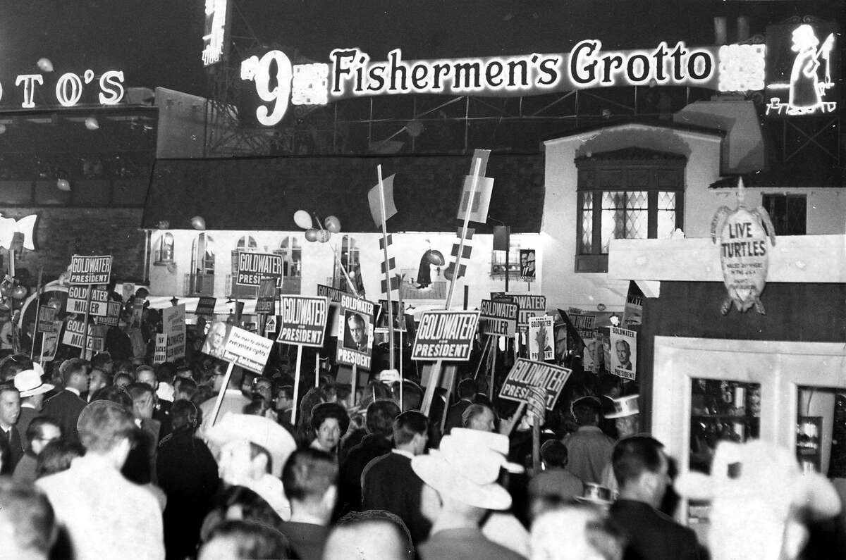 Goldwater at Fisherman's Wharf October 9, 1964. Photo by: Ken McLaughlin.