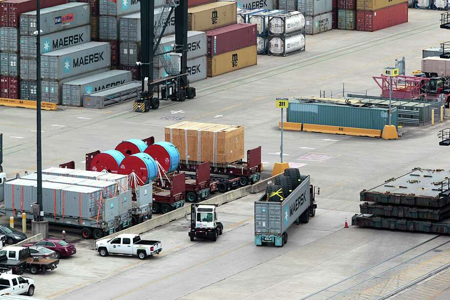 Cargo at the Port of Houston Authority, Bayport Container Terminal June 22, 2016, in Seabrook.  ( James Nielsen / Houston Chronicle ) Photo: James Nielsen, Staff / © 2016  Houston Chronicle